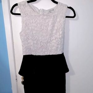 Forever21 Peplum Lace Dress Small